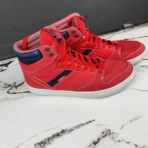 Levis High Top Sneakers Red Mens sz 10